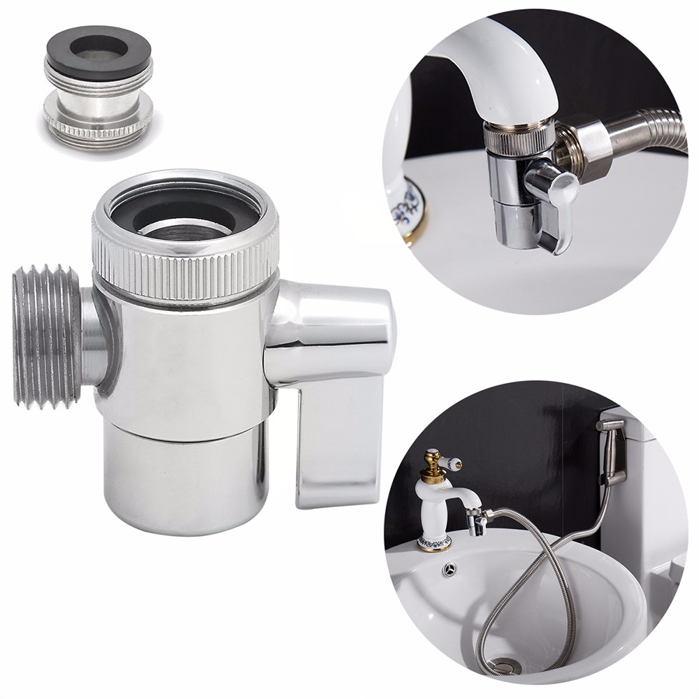 Bathroom Kitchen Sink Valve Diverter Faucet Splitter to Hose Adapter M22 OR M24