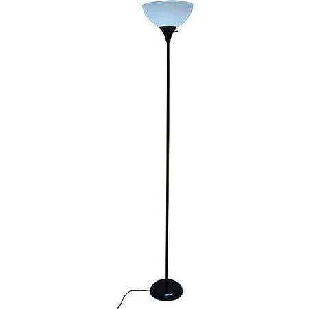 71quot floor lamp black walmartcom for Mainstays 3 light floor lamp