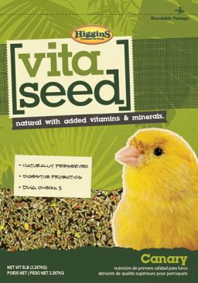 Higgins Vita Seed Canary Bird Food, 5 lb by Higgins Pet Food