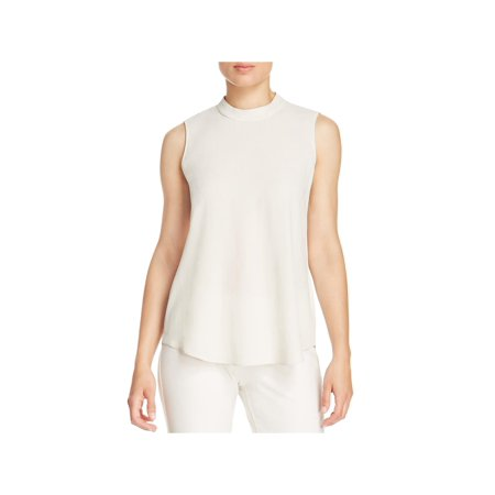 Eileen Fisher Silk Tunic - Eileen Fisher Womens Silk Crepe Tank Top Beige XXS