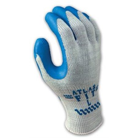 300Xl-10 Bulk Blue Atlas Fit Rubber Coat Gloveknit, Showa Best Glove, PACK_12,