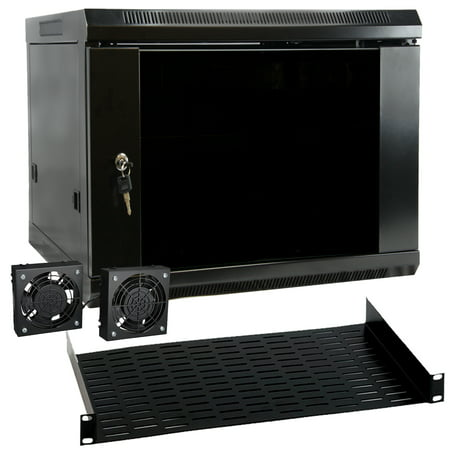 MegaMounts 9U Wall Mount Rack Enclosure Server Cabinet ()