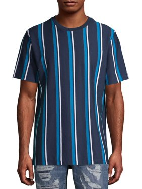 No Boundaries Men's and Big Men's Short Sleeve Stripe T-Shirt, Up To Size 3XL