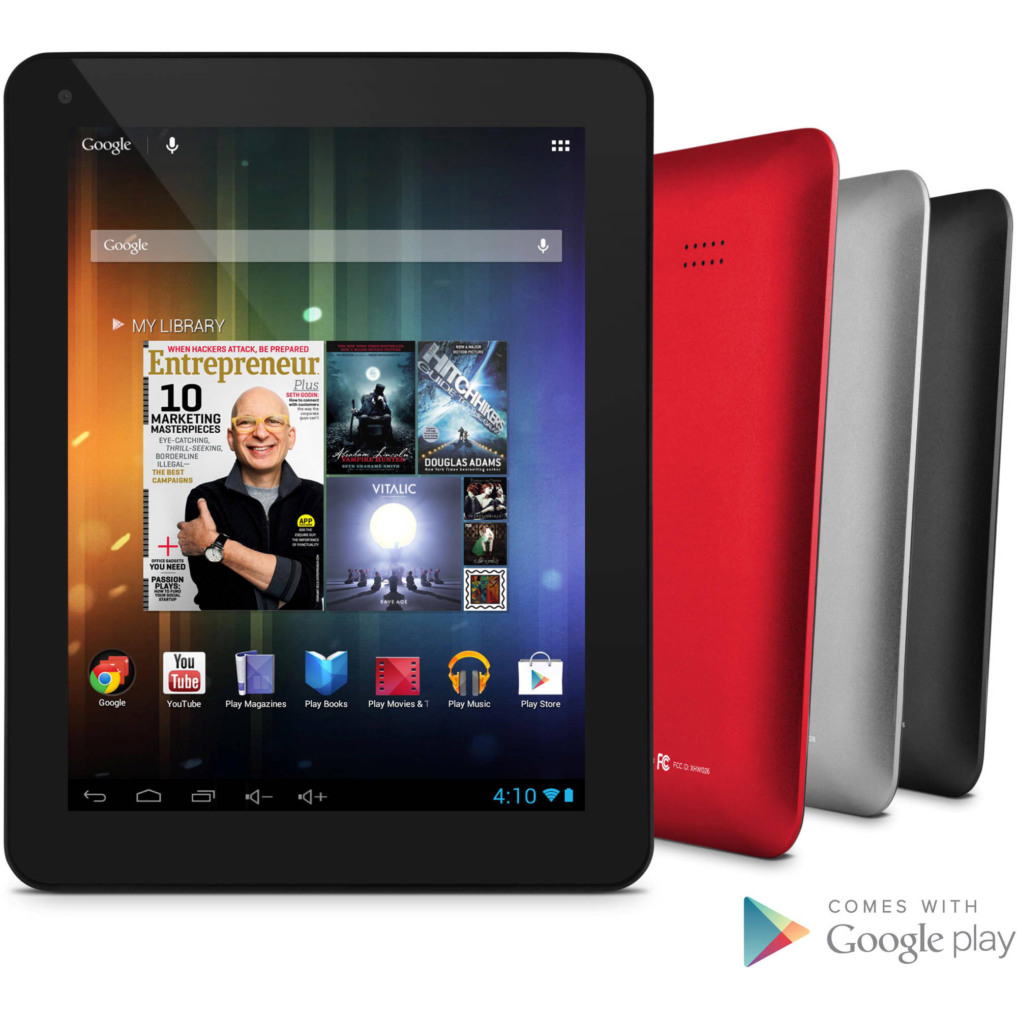 "Ematic 8"" Tablet 8GB Dual Core Core"