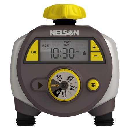 Nelson 56612 Sprinkler w/ Double-Outlet LCD Timer (Best Sprinkler Timers Reviews)