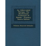 An Abbreviated Therapy (Paperback)