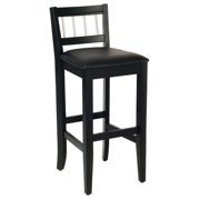 Home Styles Manhattan Pub Stool, Black and Stainless