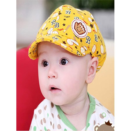 Baby Boy Girl Kid Toddler Infant Hat Peaked Baseball Beret Cap Yellow - Yellow Plastic Hats