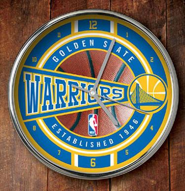 Golden State Warriors Chrome Clock