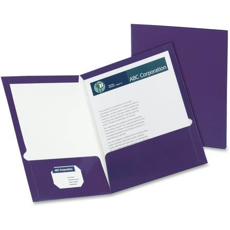Metallic Pocket - Oxford, OXF5049526, Metallic Two Pocket Folders, 25 / Box, Purple