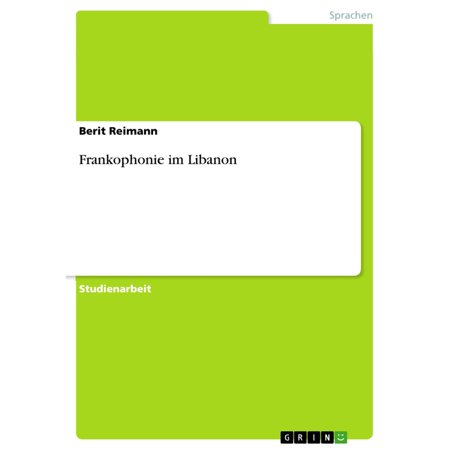 Frankophonie im Libanon - eBook (Online-shop Im Libanon)