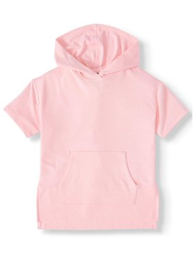 Athletic Works Short Sleeve Marled Performance Hoodie (Little Girls, Big Girls & Plus)