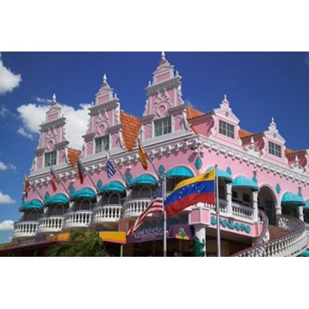 Royal Plaza Shopping Mall Oranjestad Aruba Caribbean Canvas Art - Paul Thompson DanitaDelimont (26 x 18)