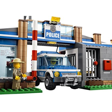 Lego Police Station City Rescue Car Edible Cake Topper Frosting 1/4 Sheet Birthday Party