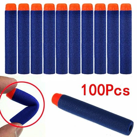 100pcs 7.2cm Refill Foam Darts For Elite Series Blasters bullets Blue