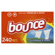 Bounce Dryer Sheets, Outdoor Fresh Scent, 240 Count