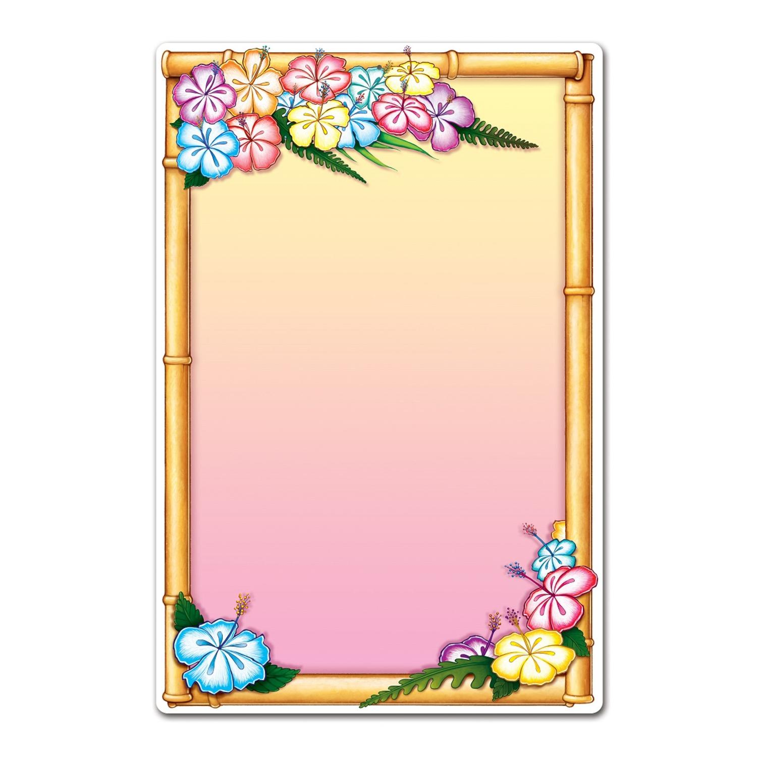"""Club Pack of 12 Multi-Colored Tropical Themed Luau Diner Menu Boards 21.25"""""""