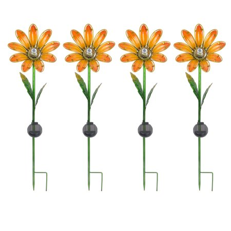 Outdoor Slate (Better Homes & Gardens Outdoor Solar Daisy Garden Stake - Set of)
