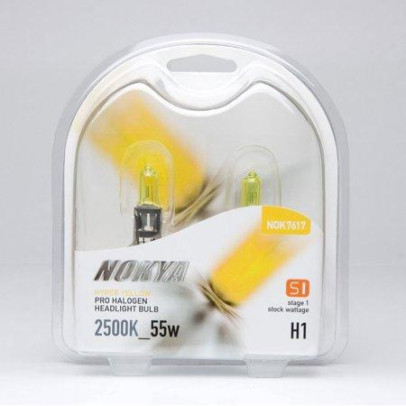 Nokya H1 Hyper Yellow Pro Halogen 2500K Stage 1 Headlight / Fog Light Car Light Bulb Replacement One Pair NOK7617