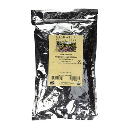 Starwest botanicals Arrowroot Powder Organic, 1 lb