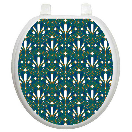 Toilet Tattoos Classic Peacock Feathers Toilet Seat Decal