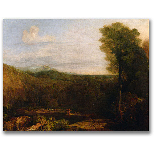 "Trademark Fine Art ""Echo and Narcissus"" Canvas Wall Art by Joseph Turner"