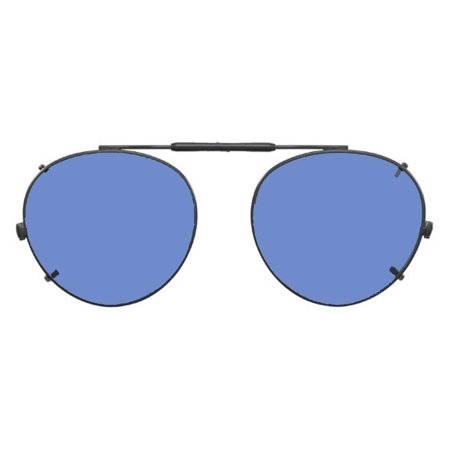 01a6c2e445a Visionaries Polarized Clip on Sunglasses - Round - Gun Frame - 47 x 42 Eye  - Walmart.com