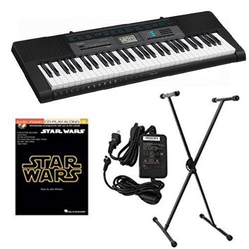 Casio CTK2550 Keyboard Package w Adapter, Stand & Star Wars Book by Keyboards Packs