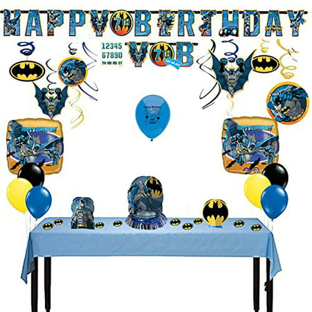 - Batman Party Supplies Deluxe Room Decorating Kit