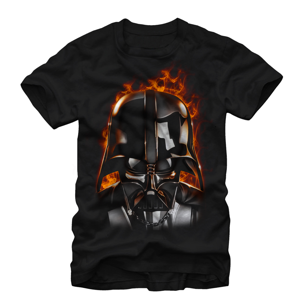 Star Wars Men's Darth Vader With Flames T-Shirt