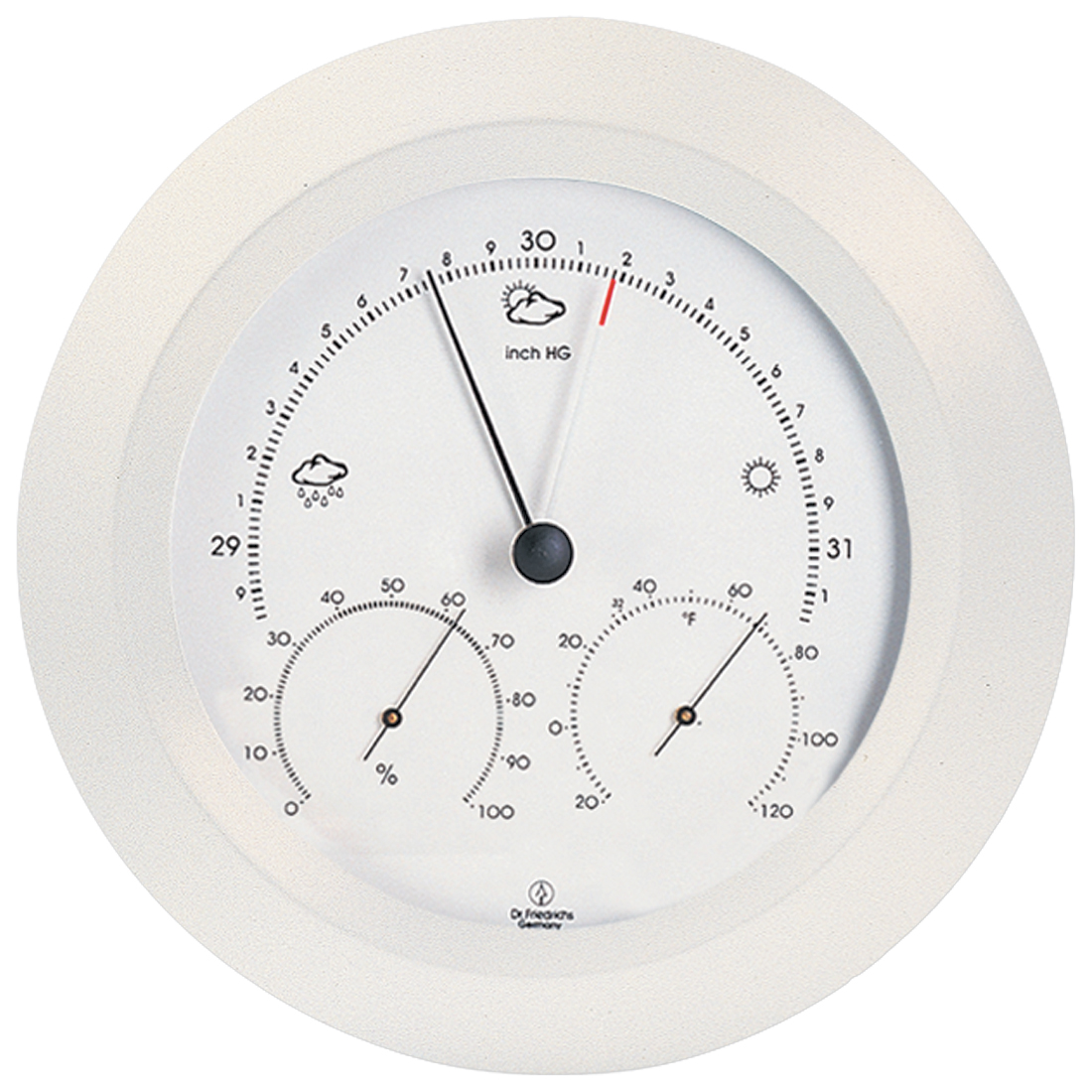 Weather Station 8 inch White by