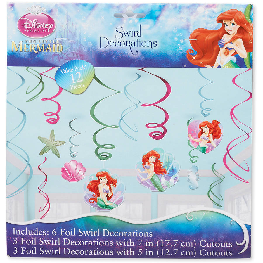 The Little Mermaid Hanging Party Decorations, Party Supplies
