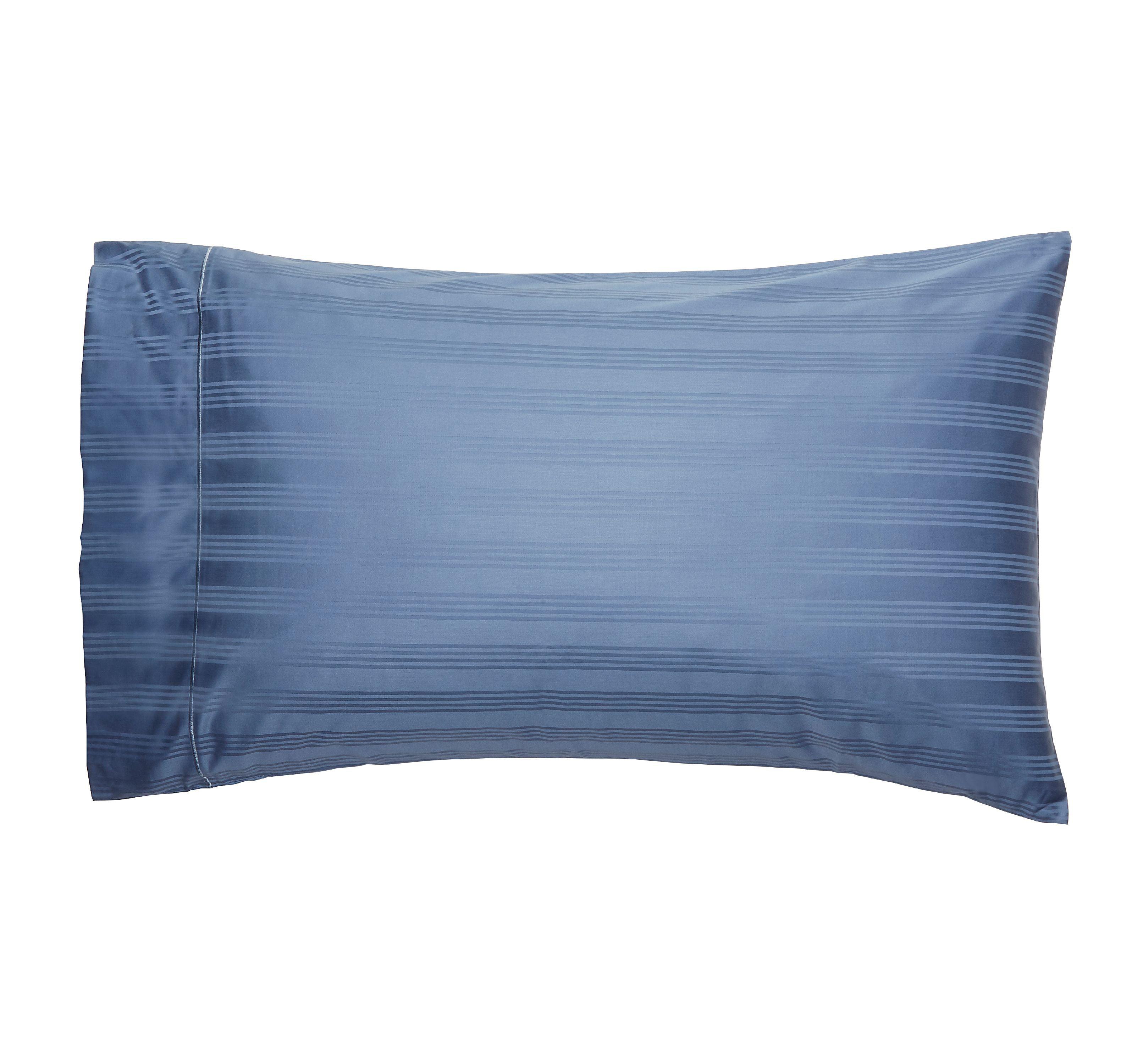 Better Home and Gardens 400-Thread-Count Damask Performance Standard/Queen Pillowcases, Set of 2, Blue Moonlight