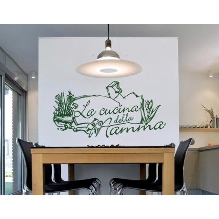 Cucina Della Mamma Wall Decal - kitchen Wall Sticker, Vinyl Wall Art, Home  Decor, Wall Mural, Italian quotes and sayings - 2606 - Light pink, 39in x  ...