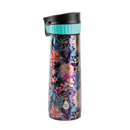 TAL Double Wall Insulated Stainless Steel Verve Push Travel Mug 16oz, Garden