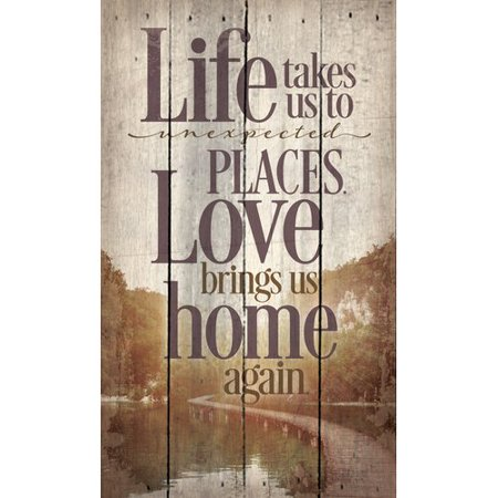 - Artistic Reflections 'Life Takes to Unexpected Places' by Tonya Gunn Textual Art on Plaque