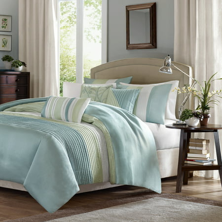 Home Essence Salem 7 Piece Comforter Set, Cal King, Green