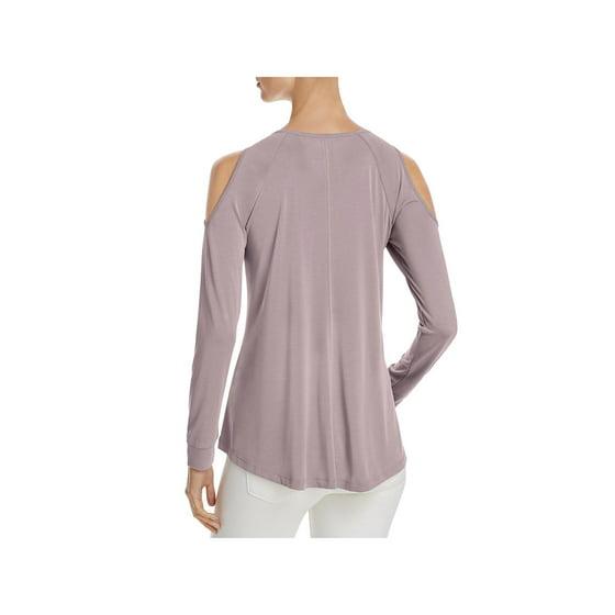 acad27445007d Cupio - Cupio Womens Cold Shoulder Long Sleeves Pullover Top Purple M -  Walmart.com