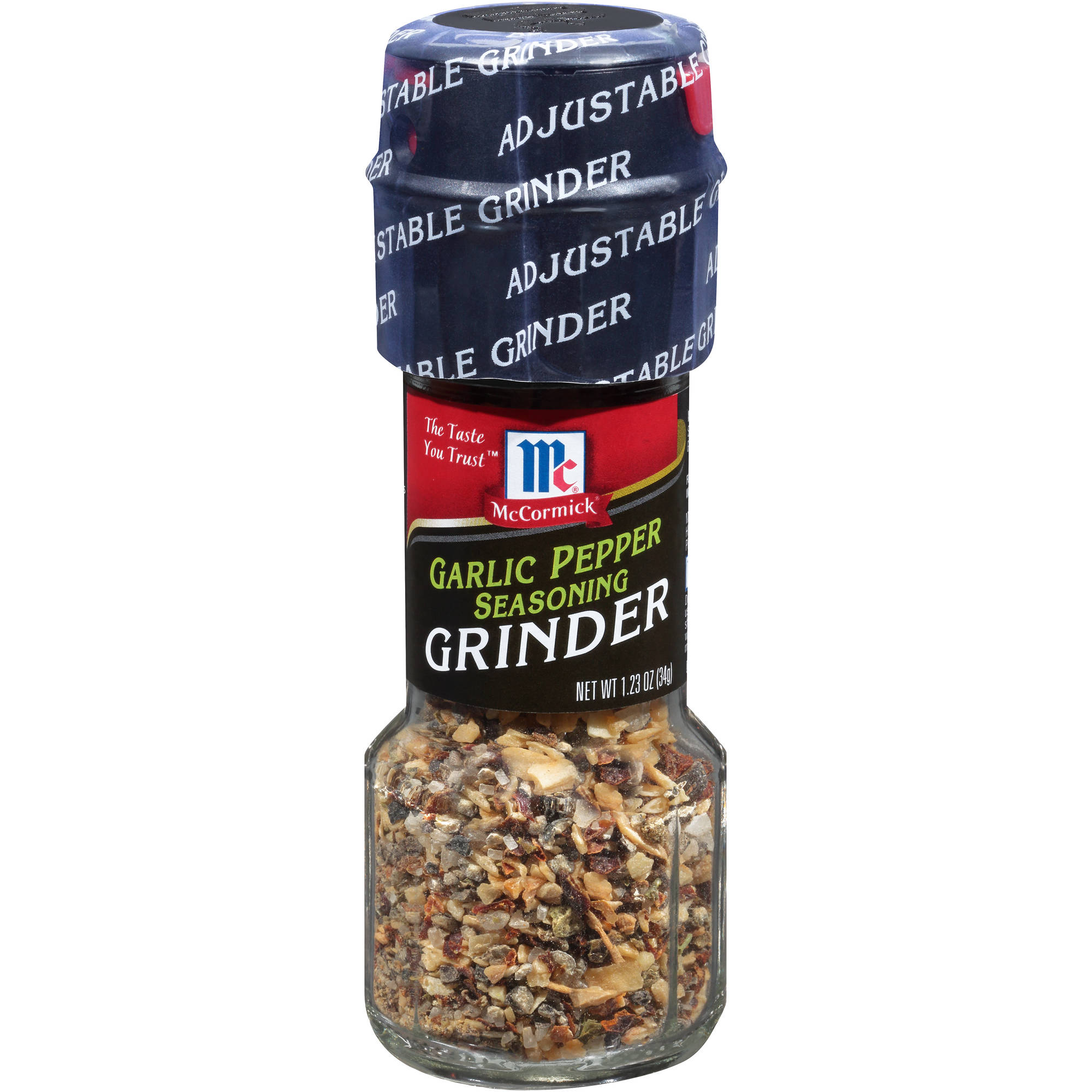 McCormick Garlic Pepper Seasoning Grinder, 1.23 oz