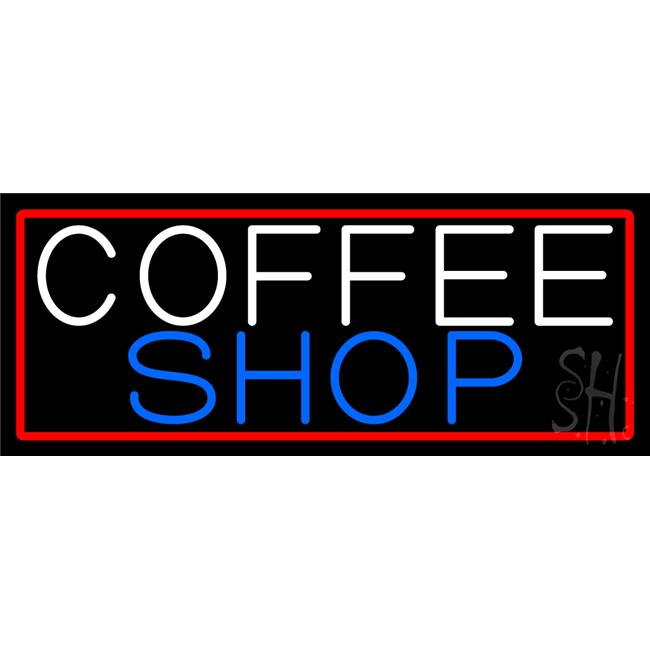 The Sign Store N105-13176-clear Coffee Shop Clear Backing Neon Sign, 13 x 32 inch