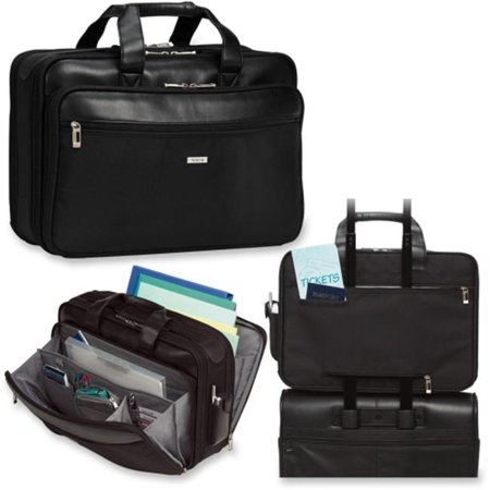 SGB3004 Classic 16 Smart Strap. Briefcase, 17 3/4 x 6 1/2 x 12 1/2, Black