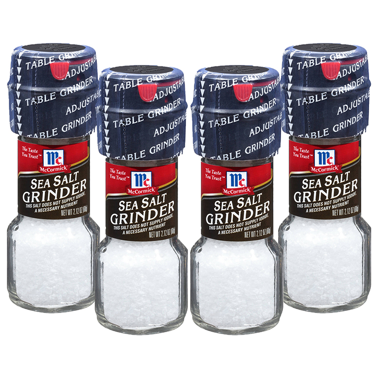 McCormick Sea Salt Grinder, 2.12 OZ (2 Pack)