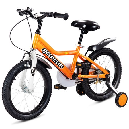 Goplus 12'' Kids Bicycle Outdoor Sports Bike W/ Training Wheel Brakes Boys Girls