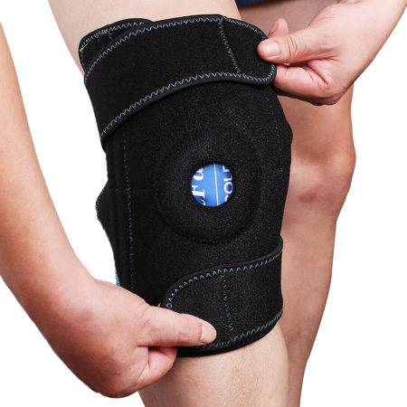 Gel Ice Pack with Knee Support Wrap by LotFancy, Cold Hot Therapy for Injuries, Arthritis, Sprained Pain,