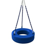 Gorilla Playsets 360° Turbo Tire Swing - Blue with Blue Chains