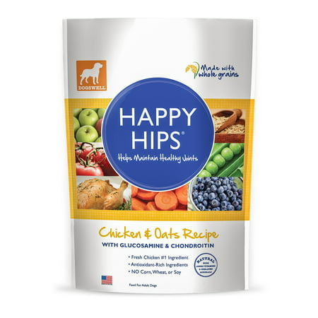 Dogswell Happy Hips Chicken & Oats Recipe Food for Adult Dogs, 4.0 LB