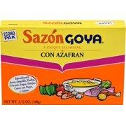 Sazon Goya with Saffron (Azafran) 3.52 Oz with 20 packets