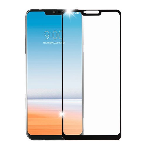 MUNDAZE Black Tempered Glass Screen Protector For LG G7 ThinQ Phone