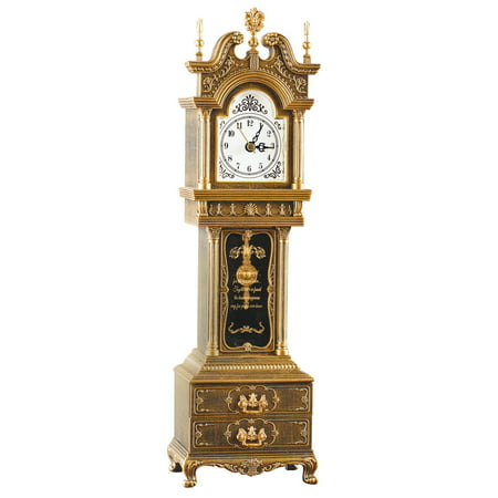 Suede Music Box - Antique Grandfather Clock Music Box with Storage, Plays Fur Elise - Tabletop Decor Home Accent, Antique Bronze