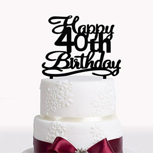 Superb Happy 40Th Birthday Acrylic Cake Topper For 40 Years Old Birthday Birthday Cards Printable Benkemecafe Filternl